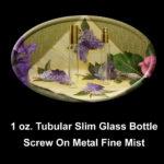 Perfume Tubular Slim Glass Bottles 1 oz. Gold & Silver Fine Mist Cap