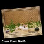 White Cream Pump 20/410