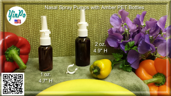 White Nasal Spray Pump with 1 oz. & 2 oz. PET bottles