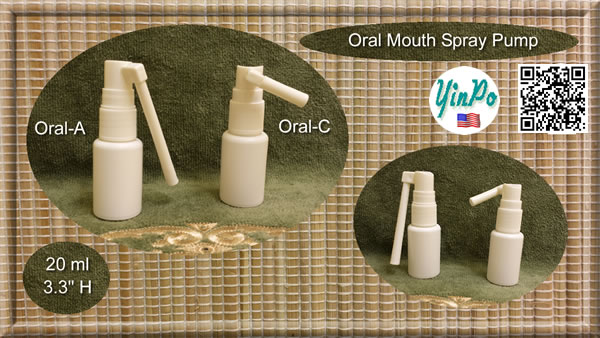 Mouth Oral-A Spray Pump with EMPTY 20 ml White PE Bottles