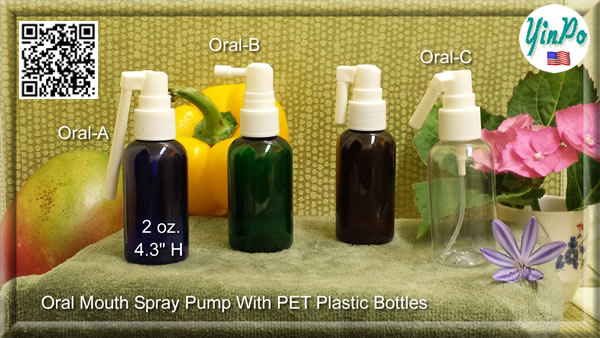 Mouth Oral-A, B, C Spray Pump with EMPTY 2.0 oz. PET Bottles