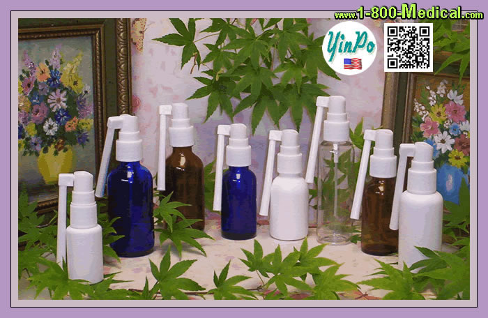 Mouth Oral Spray Pump Applicator with White bottles
